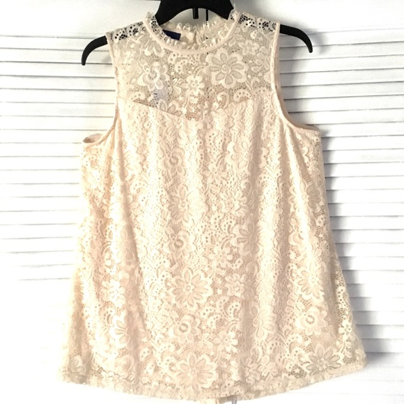 ae8d9ff934c67 w TAGs LACE MOCKNECK Swing TANK TOP. Boutique. Apt. 9